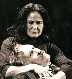Colleen Dewhurst with Jason Robards during A Moon For The Misbegotten
