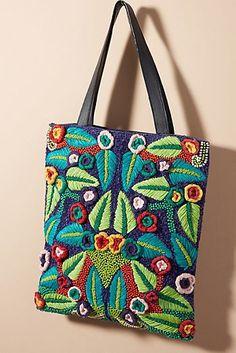 65e53e020cf7 Antik Batik Lila Tropics Tote Bag Embroidery Bags