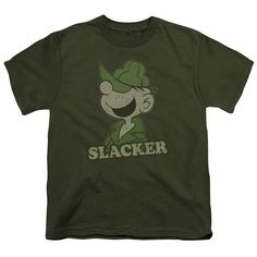 BEETLE BAILEY/SLACKER-S/S YOUTH 18/1-MILITARY GREEN