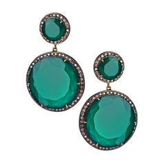 Haridra Diamond Green Onyx Circle Drop Earrings (765 KWD) ❤ liked on Polyvore featuring jewelry, earrings, accessories, jewels, brincos, circle earrings, diamond earrings, hari jewels, diamond earring jewelry and earrings jewelry