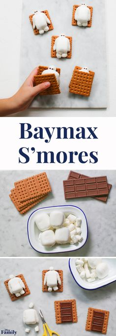 On a scale of one to 10, how would you rate your hunger? Above a five? As your personal healthcare companion, Baymax is here to save the day with this s'mores recipe. Take the classic campfire treat indoors with these adorable Baymax S'mores. All you need are marshmallows, chocolate bars, and graham crackers. Click for the three-ingredient Disney s'mores recipe.