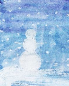 kokokoKIDS: Winter Art: white crayon, and watercolor