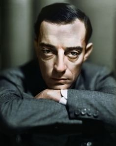 Buster Keaton. (Colorized Photo) 1930.