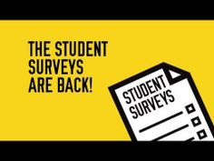 Help Us, Help You - Take Part In The Student Surveys - YouTube