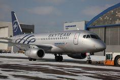 Aeroflot Sukhoi Superjet 100 in Skyteam colours