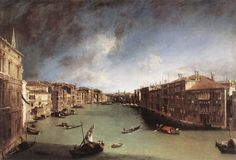 Canaletto,  Canal Grande, Looking Northeast from Palazo Balbi toward the Rialto Bridge