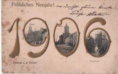 Postkarte Fröhliches Neujahr 1906 Cammin a. d.Ostsee