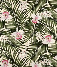 Fern Natural Barkcloth Fabric