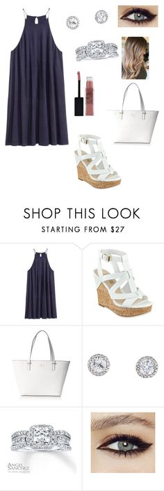 """""""classy look"""" by fashionblogger2122 on Polyvore featuring GUESS, Kate Spade, Angel Sanchez and Maybelline"""