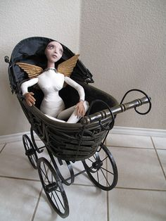 Lisa Renner, mixed media art doll.