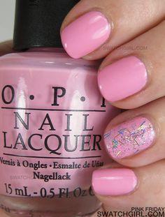 nicki minaj for opi  pink friday & save me nail swatches