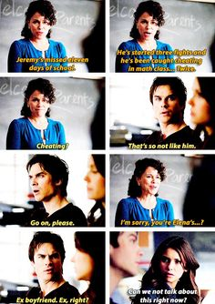 Damon the scenes in the high school this episode were great!