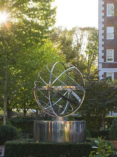Armillary sphere water feature by David Harber
