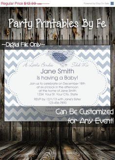 ON SALE Printable Baby Shower Invitation ~ A Little Birdie Told Me ~ I3