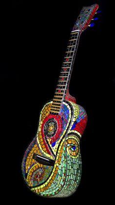 """Little Gypsy"" a mosaic sculpture by Patty Franklin www.pattyfranklinmosaics.com"
