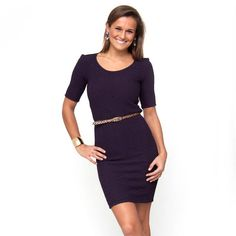 Our newest go-to dress is cleverly designed in textured fabric to hide any figure flaws. Featuring a flattering scoop neckline and comfortable ballet sl...