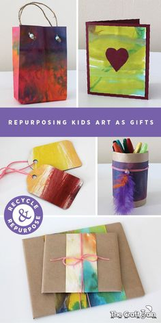 Repurpose kids art as unique, personalised gifts