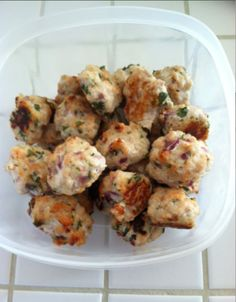 Lean Turkey Meatballs! Ground lean white meat turkey. Mix in cilantro, red peppers, sea salt, onions, garlic, egg plant. Form into 1 oz balls and bake at 425 for 30 minutes. PERFECT protein at your meal! Easy to grab on the go as well
