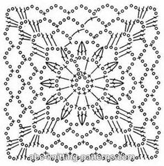 large granny square crochet chart