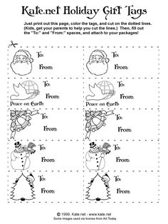 gift tags for kids to color instead of purchasing tags