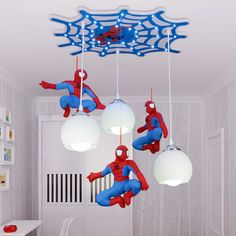 Find More Ceiling Lights Information about Cool cartoon character Spiderman ceiling children room boy bedroom lighting ceiling lamp LED creative Remote control switch,High Quality led switch button,China led grass Suppliers, Cheap switch with led from Indoor&Outdoor Lighting Store on Aliexpress.com