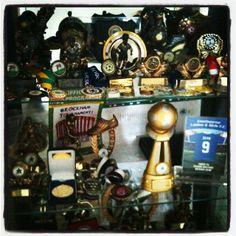 Tasha's football trophies and medals..... So far!!!