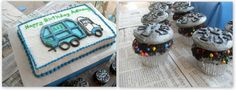 Abram has said for months now that he wants to have a garbage truck birthday!...Garbage Can Cupcakes
