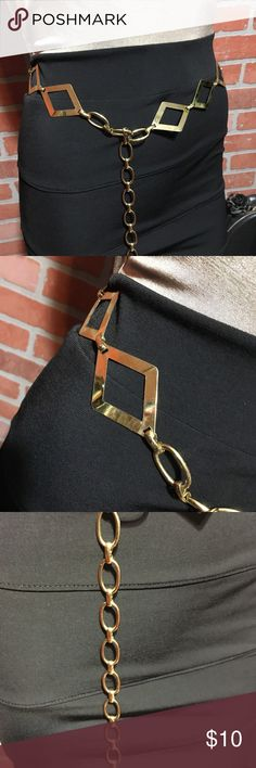 """Vintage gold metal belt This is 41"""" laying straight. Accessories Belts"""