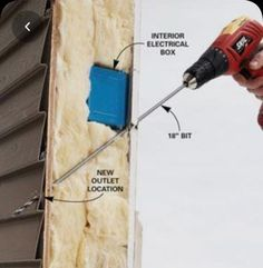 Outdoor Electrical Outlet, Outdoor Outlet, Electrical Outlets, Home Improvement Loans, Home Improvement Projects, Adirondack Furniture, Home Tools, Arduino Projects, Home Repairs