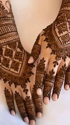 Henna Flower Designs, Pretty Henna Designs, Latest Henna Designs, Henna Tattoo Designs Simple, Back Hand Mehndi Designs, Full Hand Mehndi Designs, Mehndi Designs 2018, Mehndi Designs For Girls, Henna Art Designs