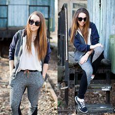 Sheinside Sweatshirt, Nike Shoes, Romwe Top, Persunmall Pants