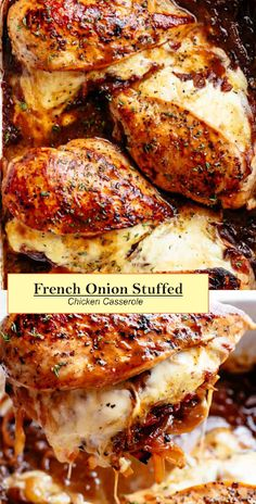 Cajun Delicacies Is A Lot More Than Just Yet Another Food French Onion Stuffed Chicken Casserole Eat Thai Panang Curry, Cooking Recipes, Healthy Recipes, French Food Recipes, Top Recipes, Relleno, Baked Chicken, Casserole Recipes, Stuffing Recipes