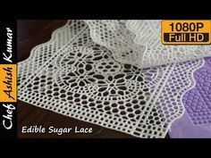 Easy decoration for cake, pastries, and cookies. Here is a simple recipe for edible sugar lace which cost very cheap and looks elegant to embellish your cake. Homemade Edible Sugar Lace Recipe, Homemade Cakes, Cake Decorating Techniques, Cake Decorating Tips, Decorating Supplies, Cookie Decorating, Sugar Veil, Flower Sugar Cookies, Lace Cookies