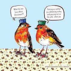 Two rude robins via @nyhagraphics
