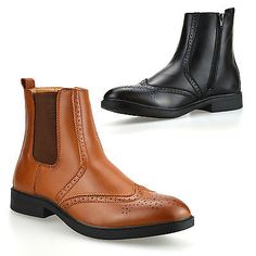 Mens new #chelsea dealer zip up work #formal #ankle biker brogue boots shoes size, View more on the LINK: http://www.zeppy.io/product/gb/2/252088769321/