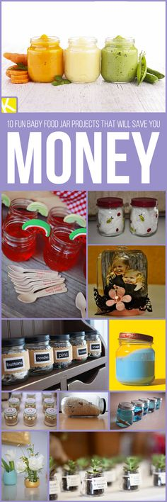 10 Fun Baby Food Jar Projects That Will Save You Money