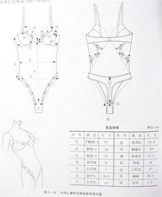 Bodysuit , patterns instructions, lingerie