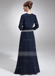 3/4-Length Sleeve Chiffon Special Occasion Wrap (013016753) - JJsHouse