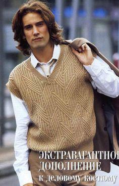 colete masculino tricô receita - Pesquisa Google