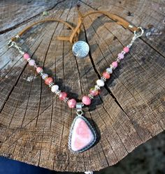 Strawberries and suade. Mermaid tears jewelry