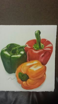 Peppers 11x10 Watercolor Unframed $55