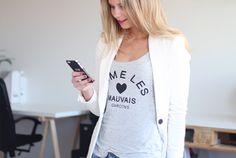 Outfit Marlou Volkerink: Zara Blazer, H&M Top