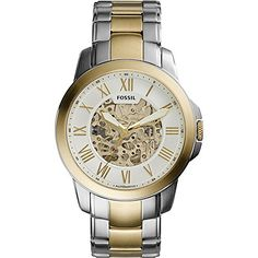 Fossil Mens Grant Automatic TwoTone Watch >>> Learn more by visiting the image link. Fossil Watches For Men, Luxury Watches For Men, Michael Kors Watch, Gold Watch, Stuff To Buy, Accessories, Image Link, Fossil Watches Mens