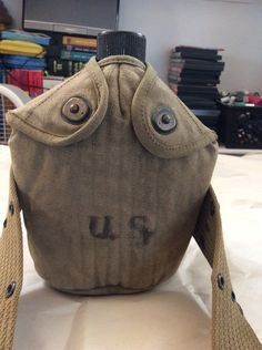 A personal favorite from my Etsy shop https://www.etsy.com/listing/257189358/vintage-us-army-canteen-1945-canteen