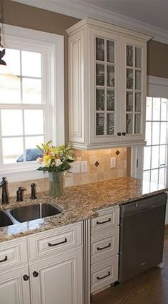 White cabinets & backsplash. Will this work with our countertops?
