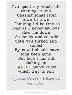 jackson browne lyrics