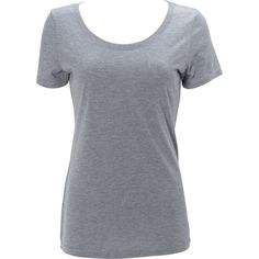 Simplex Apparel Triblend Womens Scoop Tee - XS - Heather Grey - Shirts (60 BRL) ❤ liked on Polyvore featuring tops, t-shirts, shirts, grey, heather grey t shirt, heather grey tee, gray tees, tee-shirt and heather gray t shirt