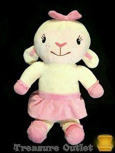 Disney Doc McStuffins Stuffed Plush Lambie Lamb Sheep Doll 17.5in