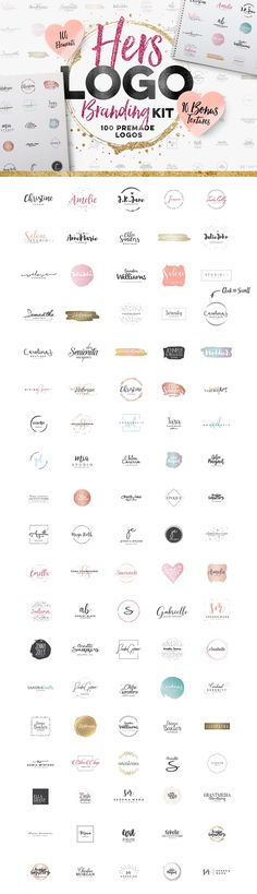 Get this design kit now, because you don't want to be the last! The Hers Logo Branding kit includes 100 logo design templates featuring modern, minimalist design with a feminine flair. Includes a free bonus of watercolor and metallic textures. Business Branding, Logo Branding, Business Logo Design, Design Logo, Web Design, Branding Design, Round Logo Design, Branding Template, Blog Logo
