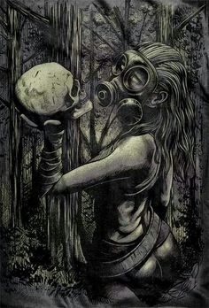 None of the artwork nor photography posted here is mine, credit goes to their rightful owners. Apocalypse Tattoo, Apocalypse Art, Aztecas Art, 2d Art, Tattoo Manche, Gas Mask Girl, Satanic Art, Chicano Art, Chicano Tattoos